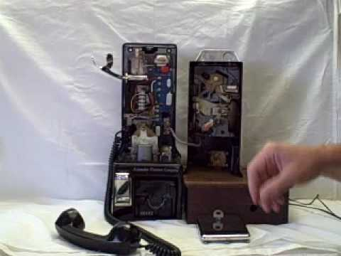 automatic electric three slot payphone coin operated opened up youtube rh youtube com Old Payphone 3 Slot Payphone On Craigslist