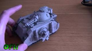 Forgeworld predator built + video responce to generalsplatton