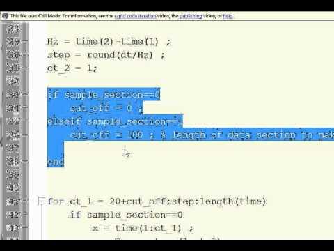 MATLAB Exponential Extrapolation script description