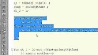 MATLAB Exponential Extrapolation script description