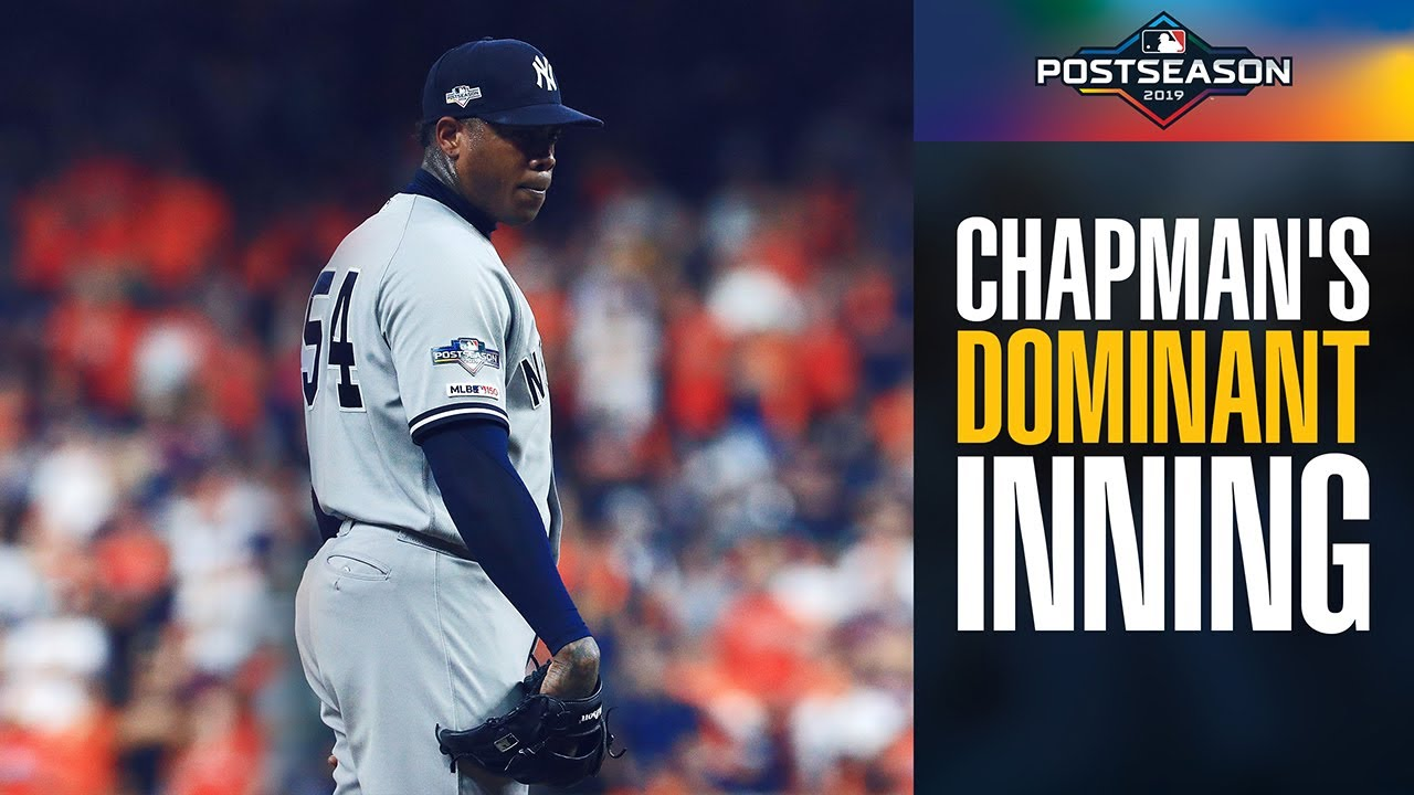 Yankees Aroldis Chapman's DOMINANT 9th inning vs. Astros in ALCS Game 2