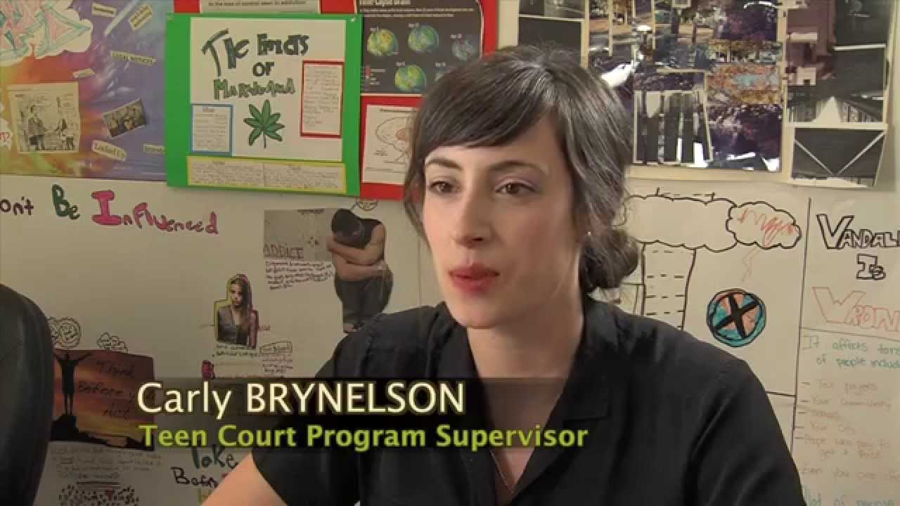 Teen court program which