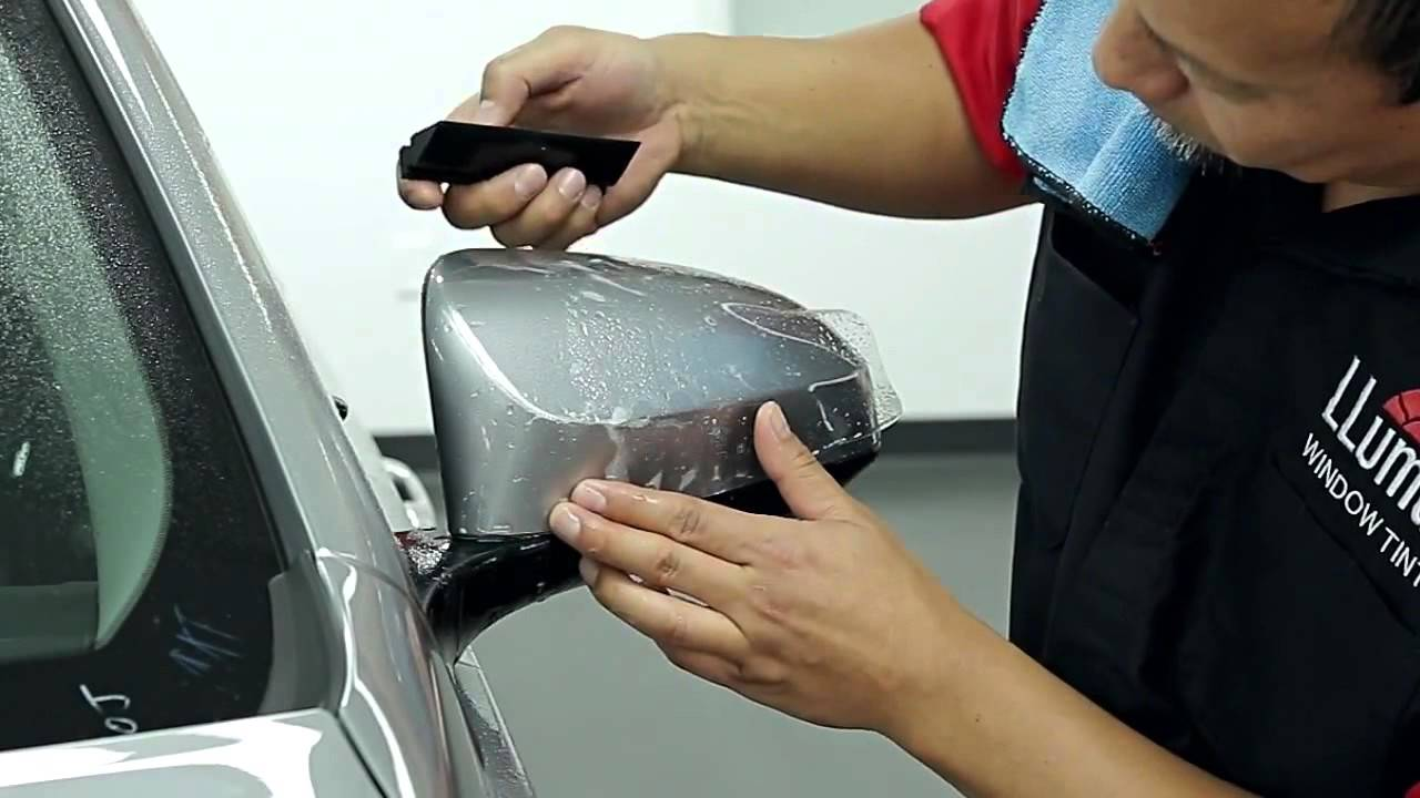 Llumar Paint Protection Film Side Mirrors Installation