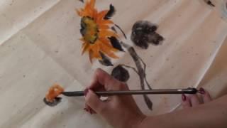 Уроки рисования с Дианой Медведевой - Подсолнух (традиционная китайская живопись)