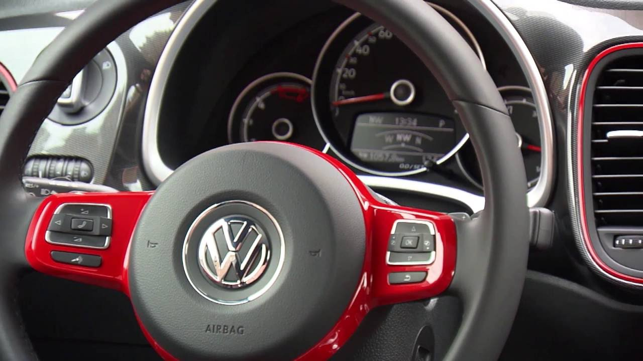 2017 Volkswagen Beetle Interior Design In Red Automototv