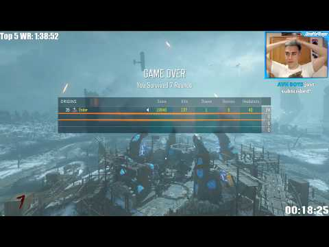 ORIGINS: SOLO EASTER EGG SPEEDRUN - WORLD RECORD ATTEMPT! (BLACK OPS 3 ZOMBIES)