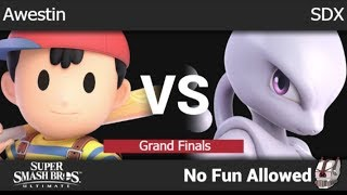 NFA 3 - Awestin (Ness) vs SDX (Mewtwo) Grand Finals - SSBU