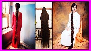 Шикарные Волосы Длиной 2 метра 30 см! 27-летняя Алия Насырова Прославилась на Весь Мир!
