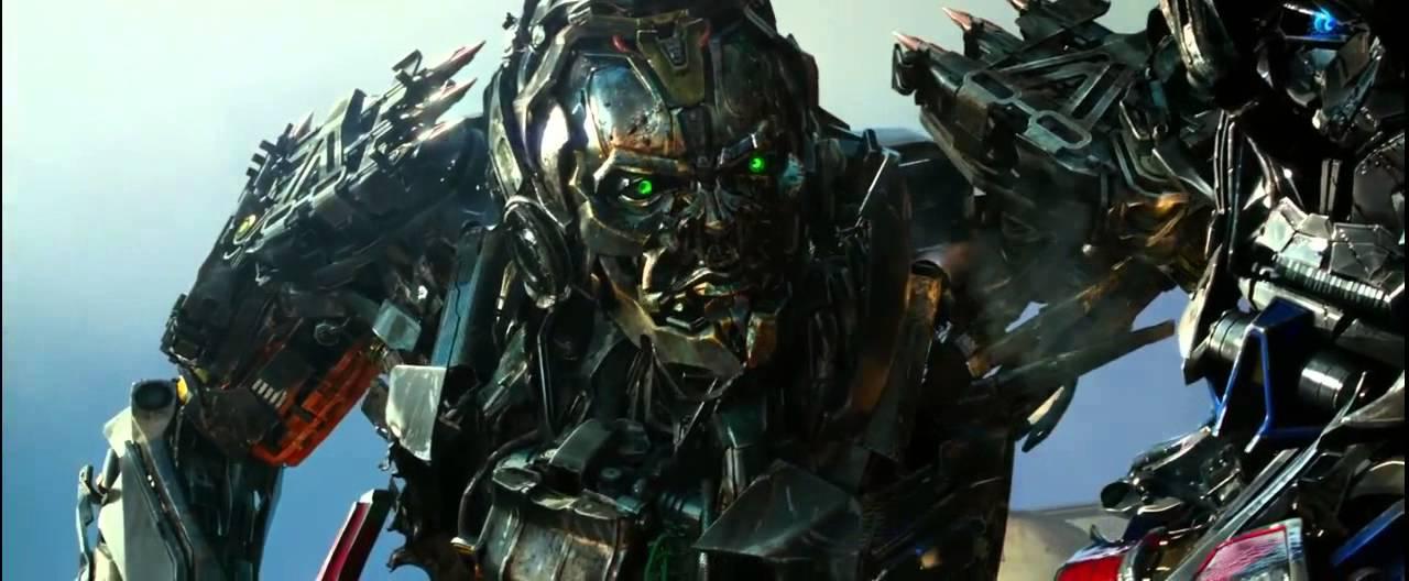 Transformers 4 (2014) Optimus Prime vs Lockdown (HD latino ...