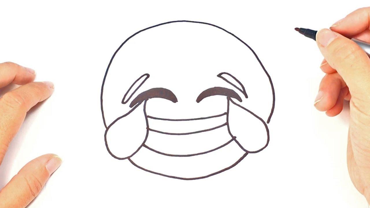 Como dibujar un Emoji Risa Emoji Riendo - YouTube