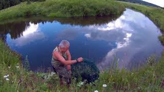 Соло поход одного дня на речку | Костромская область | раколовка