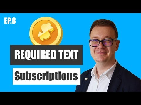 Required Text for Subscriptions (NEW) iOS11 auto-renewable subscriptions in app purchases text