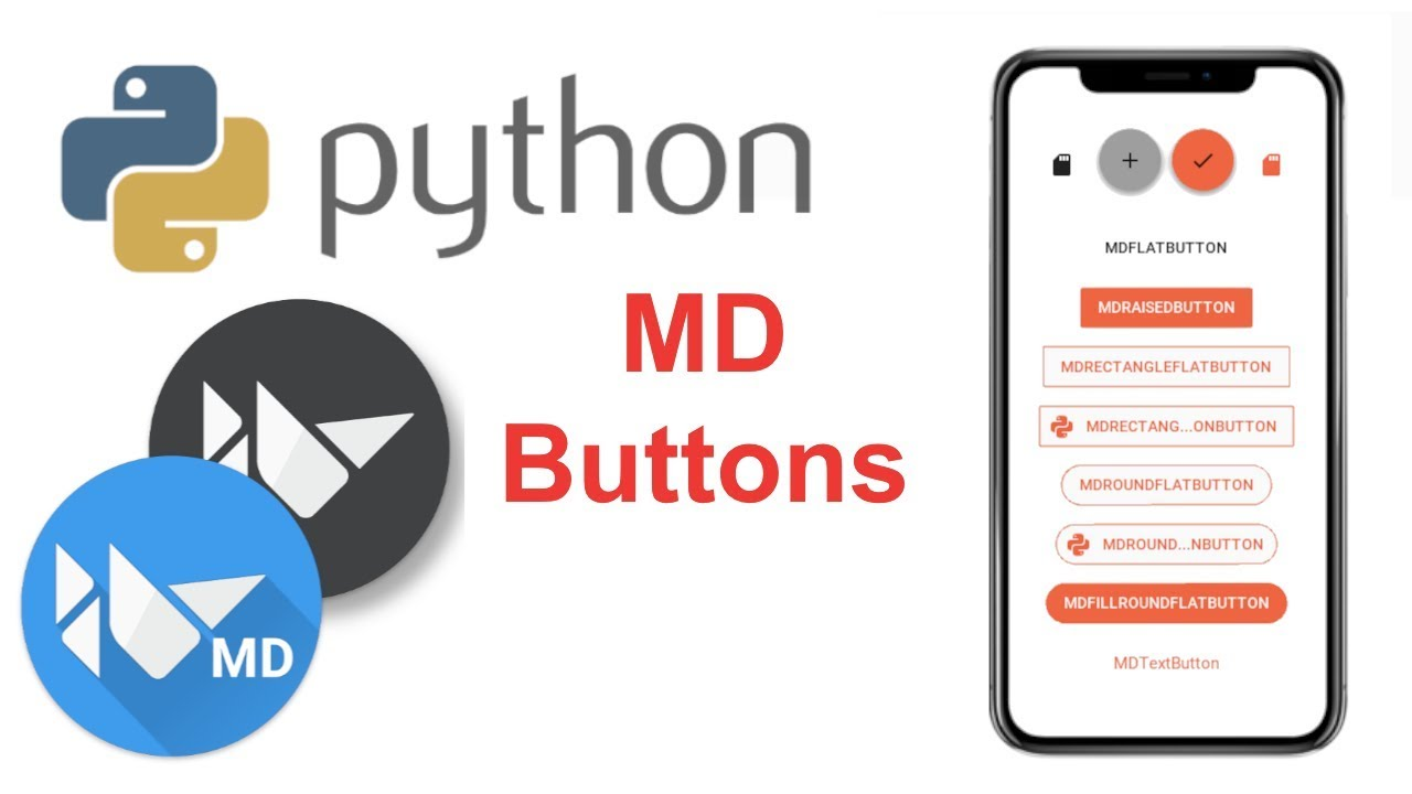 Learn to Make Beautiful Mobile Apps in Python | KivyMD Tutorial - Buttons