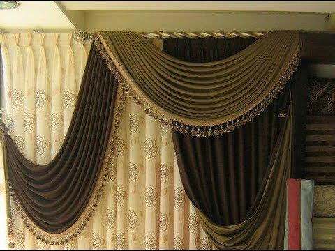 how to make swags and tails curtains(Amazing and very Beautiful)