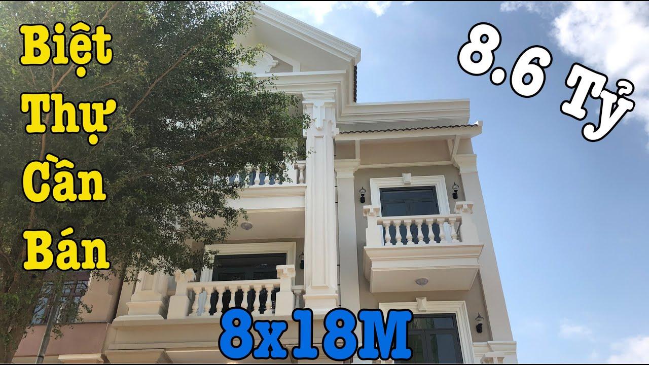 Bán Nhà Quận 12,Biệt Thự Sang Trọng Đẳng Cấp Đường Hà Huy Giáp P.Thạnh Lộc DT 8x18m Xây 4Tấm Rất Đẹp