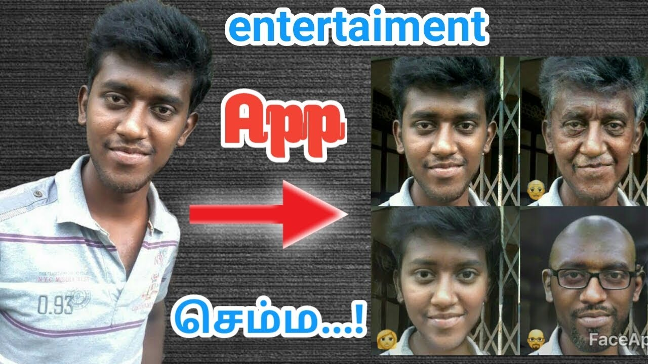 How to Use FaceApp face app in tamil