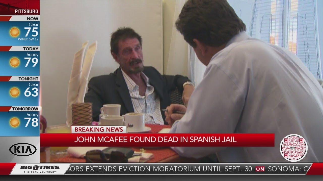 John McAfee: Anti-virus creator found dead in prison cell