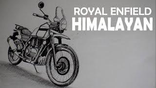 Royal Enfield HIMALAYAN || Sketching