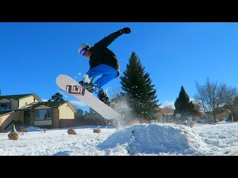 Snowboarding In The Streets!!