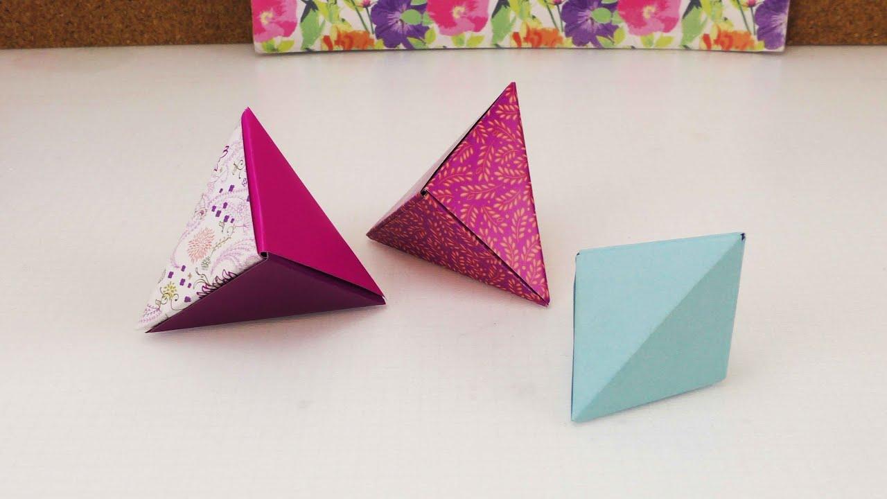 origami geschenkbox modulares origami foxbox einfach. Black Bedroom Furniture Sets. Home Design Ideas