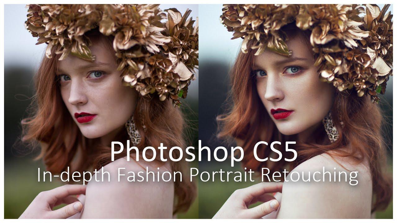 Photoshop tutorial skin retouching fashion portrait retouching.