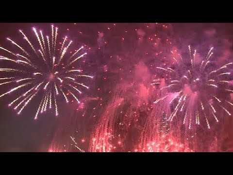 Macao Holds Fireworks Display to Celebrate National Day