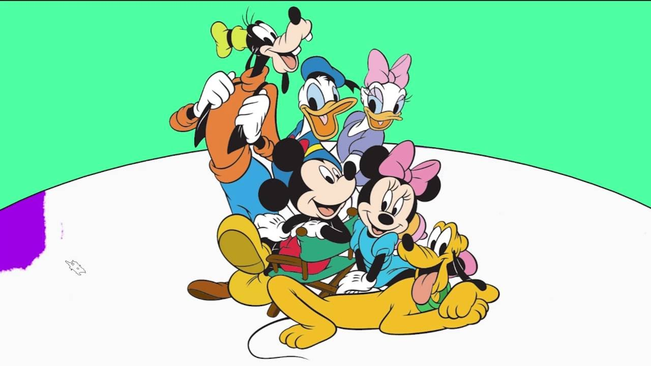 Mickey And Mini Mouse Coloring Page 7 Donald Duck Daisy Pluto