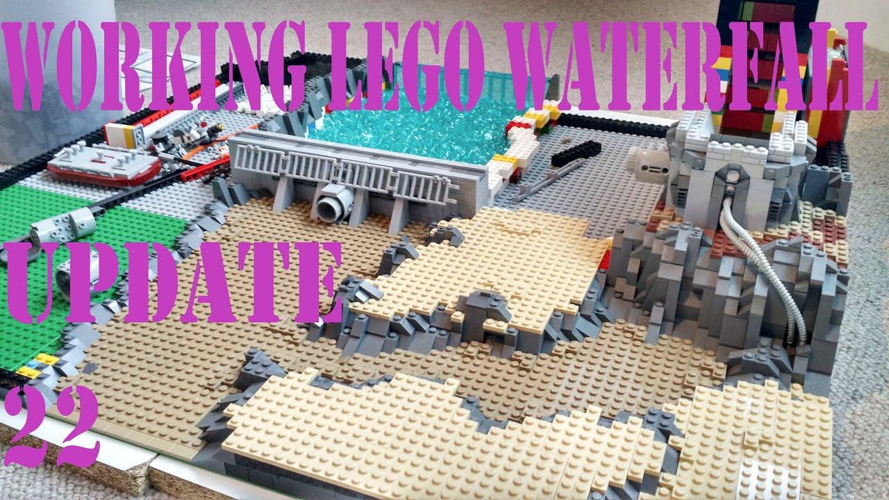 working waterfall  lego star wars base update 23  youtube