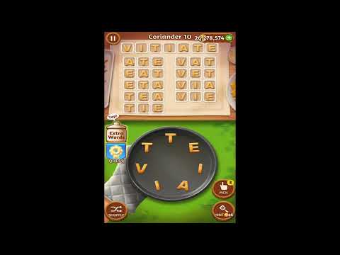 Word Cookies Coriander 1-20 Answers + Special Level