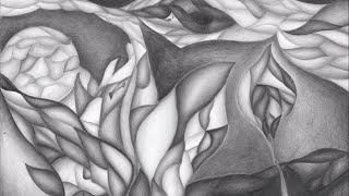 Abstract graphite drawing - Hidden flower