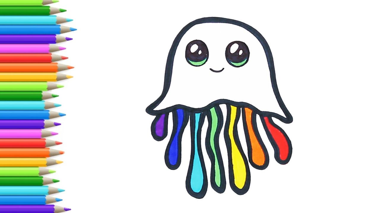 How to draw 7 colorful octopus . Very easy drawing for kids  // Art for kids with Art page