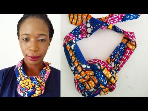 Diy | How To Make Statement Necklace | African Print