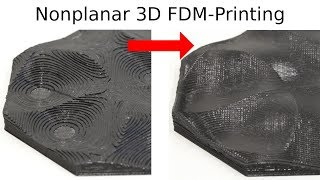 3D Printing of Nonplanar Layers for Smooth Surface Generation