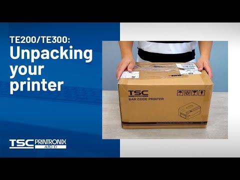 TSC TE200/TE300: Unpacking Your Printer