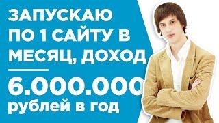 КАК СОЗДАВАТЬ ПО 1 САЙТУ В МЕСЯЦ И ЗАРАБАТЫВАТЬ 500.000 РУБ. В МЕС. - КЕЙС - ЭМИЛЬ КАБАНОВ
