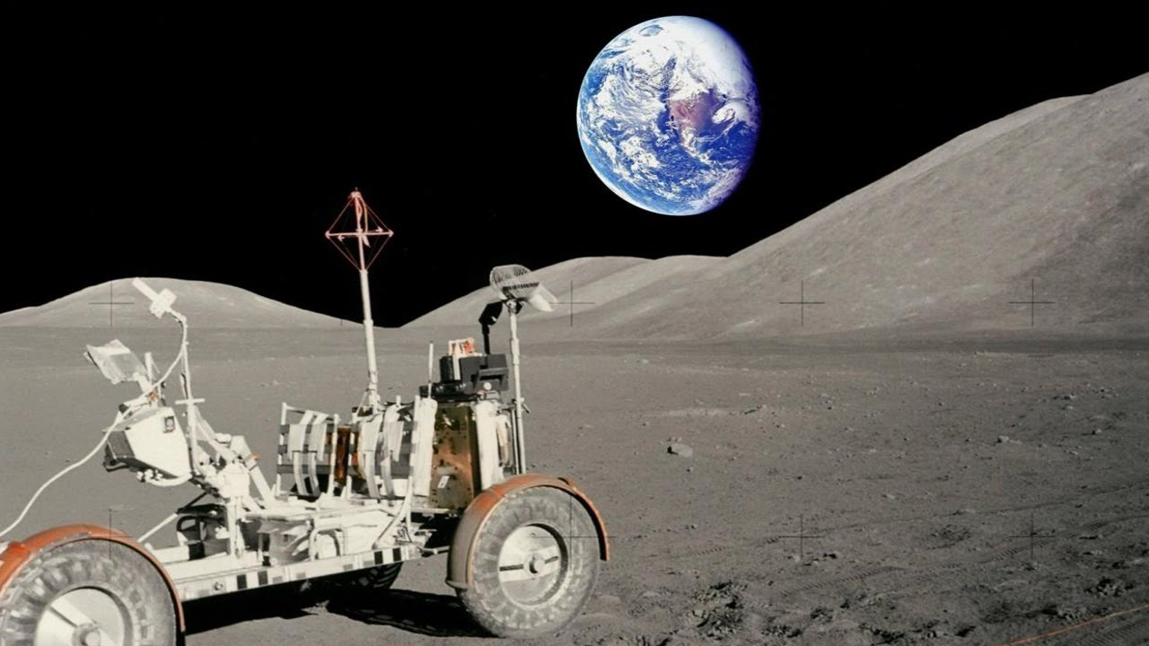 Moon Landing Hoax- No Lunar Rover Tracks! - YouTube