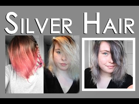 Dying My Hair Silver Grey Ombre Colour Freedom Youtube