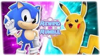 CLASSIC SONIC vs PIKACHU! (Pokémon & Sonic Animation) | REWIND RUMBLE