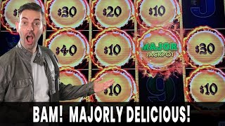 💸 MAJORLY DELICIOUS! 😱 DOUBLE MAJORS?! 🐲 First Spin BONUS on Dragon Link at Agua Caliente #ad
