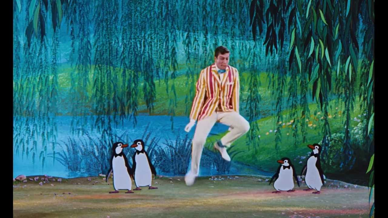 Pingouin Mary Poppins Overwerk Feat Dick Van Dyke Mary Poppins Penguin Dance