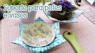 Patchwork Com Tia Lili: pot-holder ou suporte para potes e vasos