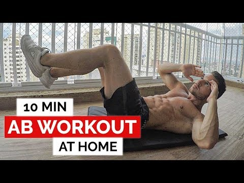 10 Min Abs Workout At Home (No Equipment Required)