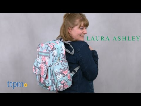Laura Ashley Baby 4-in-1 Rose Floral Dome Backpack Diaper Bag From Laura Ashley