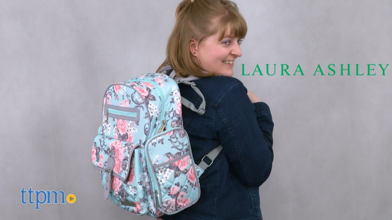 Laura Ashley Baby 4-in-1 Rose Floral Dome Backpack Diaper Bag from Laura  Ashley 274a47d53218e
