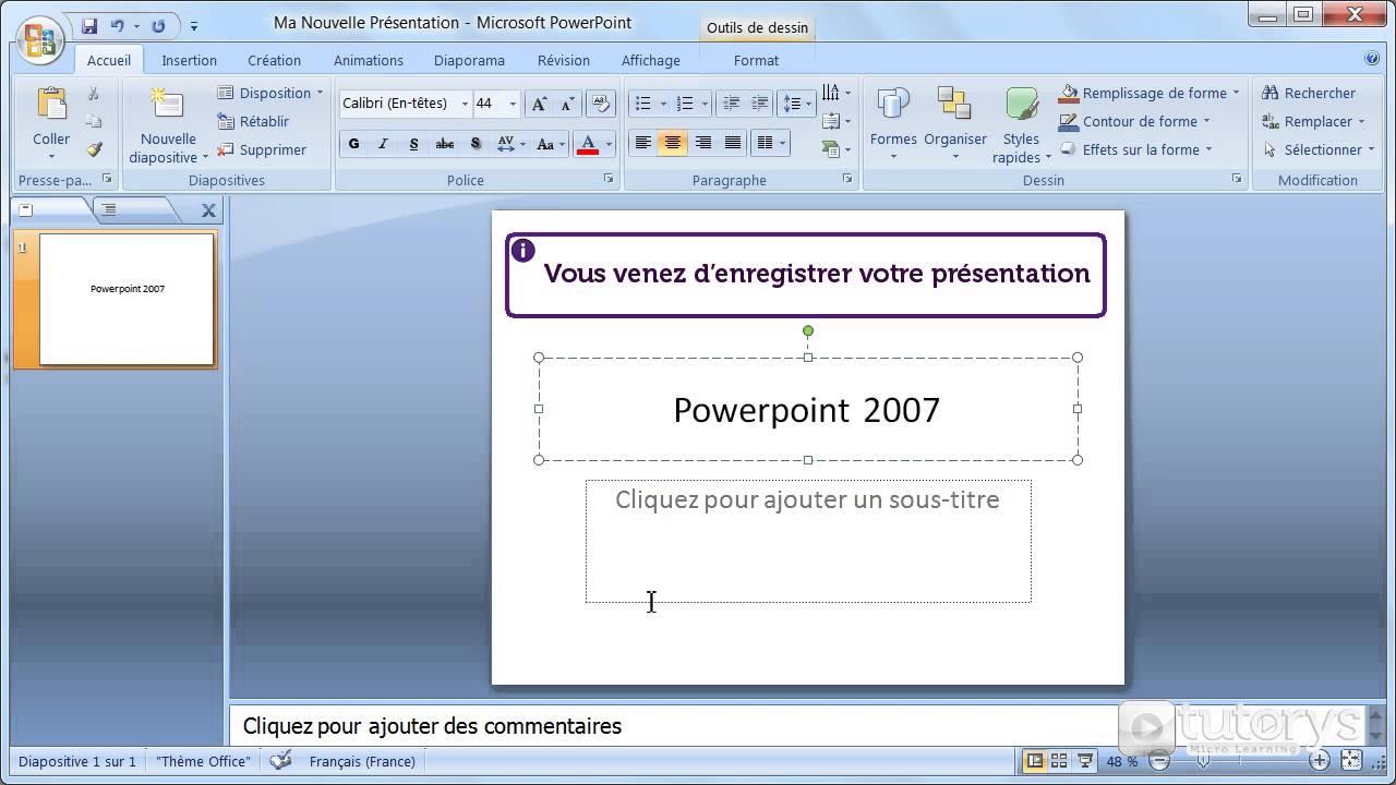 comment enregistrer une pr u00e9sentation powerpoint 2007