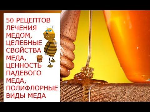 50 рецептов лечения медом, целебные свойства меда, ценность падевого меда, полифлорные виды меда