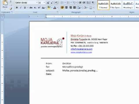 Kako kreirati memorandum u wordu.mp4
