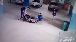 accident live video cctv footage in same place