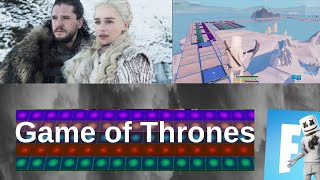 GAME OF THRONES Thème (Fortnite Music Blocks Remake) [Avec code]