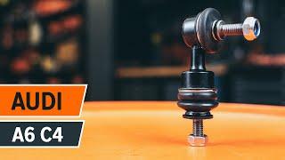 Ako vymeniť tyčka stabilizátora zadná na Audi A6 | Návod HD